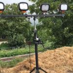 Four Head LED 4.2m Mast Floodlight