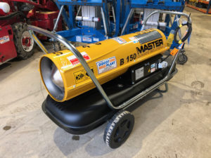 Master B150 diesel oil fired direct heater
